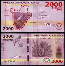 BURUNDI 2000 FRANCS (P52) 2015 UNC
