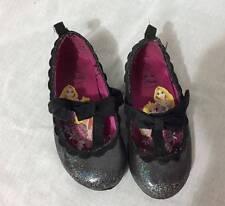 Girls infants & toddlers size 7 Disney Princess slipper shoes glitter black Velc