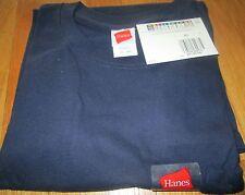 Hanes Pocket T-Shirt  Large 100 % Cotton  Navy Color