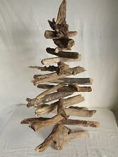 """Driftwood tree 20"""" tall natural seaside wood Christmas or all year round display"""