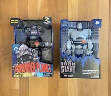 Lot Of 2 Iron Giant & Robby the Robot Walking Lights & Sound New Sealed