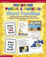 Guess-Me Poems and Puzzles: Guess-Me Poems and Puzzles : Word Families by Betsy