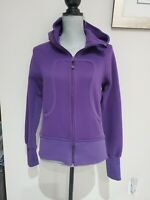 Lululemon Scuba Hoodie Size 6 Purple Pockets Logo Thumb Holes Full Zip Jacket