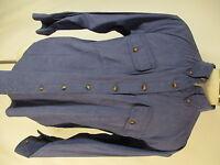 Orvis Mens Blue Long Sleeve Nylon Camp Shirt XL