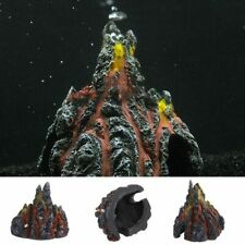 Volcano Shape Aquarium Fish Tank Decor Oxygen Pump Air Bubble Stone Ornament