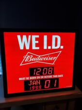 Budweiser We Id Sign lights up Won't Stay On Has A Flicker After It Warms Up