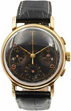 Vintage Rolex Antimagnetique Chronograph 18k Yellow Gold 4313