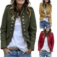 Women Autumn Slim Fit Blazer Office Ladies Vintage Slim Elegant Jacket Coat Lot