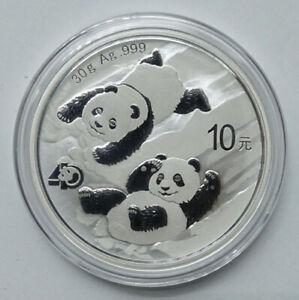 2022 China Panda 30g Silver Coin