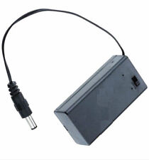 9V PP3 Battery Holder Box Case Wire Lead ON/OFF Switch Cover + DC 2.1mm Plug