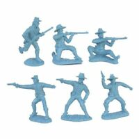 TSSD 1/32 Civil War Union Cavalry 12 Plastic Toy Soldiers 6 Poses BLUE FREE SHIP