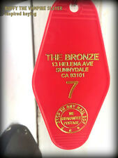 "BUFFY THE VAMPIRE slayer inspired ""THE BRONZE"" Keytag (Red/Gold)"