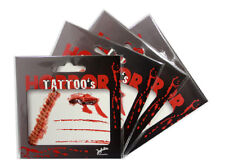 4er Set Halloween Wunden Tattoos Horror Narbentattoo Bluttattoo 129036613