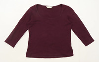 Dorothy Perkins Womens Size 12 Cotton Purple Top (Regular)