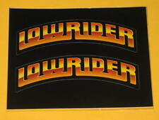 2 Original Lowrider Magazine Stickers classic car war decal impala chevy bel air