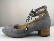 HUSH PUPPIES Ladies Grey Leather Court High Heel Court Shoe Sandal Size 7 41