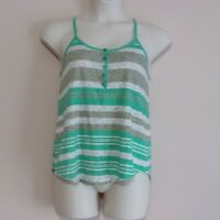 UNIONBAY Striped Racerback Henley Tank Top - Juniors Size XL