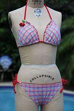 Tommy Hilfiger Women's Bikini Swimwear Swimsuit Multi Color Rainbow  Size Medium