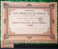 Dépt 58 & Paris - Belle Frise Rare Cie des Eaux Minérales de Pougues  01/10/1894
