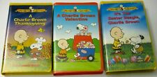 Charlie Brown Holiday VHS Lot Thanksgiving  Valentine  Easter Beagle  Snoopy