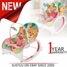 Fisher-Price Infant to Toddler Rocker Pink│Space For Playing,Feeding,Resting│New
