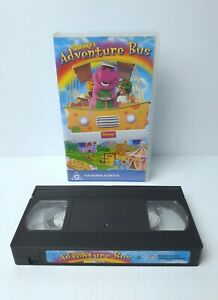 Barney's Adventure Bus VHS Featuring 17 Favourite Barney Songs 1998