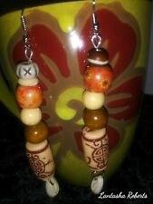 afrocentric hanging bead earrings