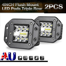 Pair 4inch 160W Flush Mount LED Work Light Bar Spot Driving Lamps 12V Reverse 5""