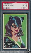 1966 SINISTER SMILE BATMAN CARD #27 GRADE PSA 4 #25463771
