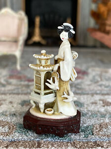 Vintage Artisan Miniature Dollhouse Robert Olszewski 1999 Asian Woman Statue