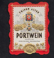 Ancienne étiquette  Allemagne BN9462 Portwein années 50
