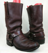 VTG Sears Size 8 D Mens Brown Square Toe Harness Engineer Motorcycle Boots 4Ar/1