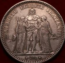 1873 France 5 Francs Silver Foreign Coin