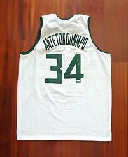 Giannis Antetokounmpo Autographed Signed Jersey Milwaukee Bucks JSA 84408741b