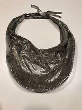 Chloe Silver Metal & Leather Mesh Hobo Bag