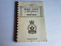 Neepawa Manitoba Ladies Auxiliary Legion Cook Book Recipe Cookbook Vtg
