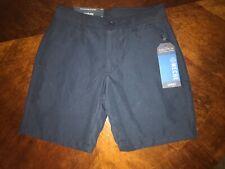 Boys navy blue school uniform shorts adjustable waist size 6 regular Nautica