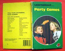 Party Games Ladybird vintage book children fun birthdays nostalgia 1982 FE