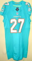 MIAMI DOLPHINS KALEN BALLAGE 2016 TEAM/PLAYER ISSUED AQUA NIKE LINE JERSEY Sz.44