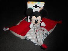 Disney NICOTOY Doudou Mickey plat Nuage Gris Rouge