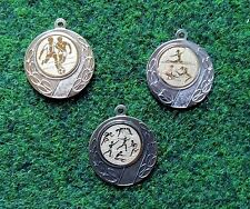 100 Medaillen gold #1 mit Band + Emblem (Sport Sieger Turnier Pokal Medaille)