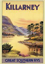 KILLARNEY Ireland Irish Vintage Travel Poster 20x30 Reproduction FREE S/H