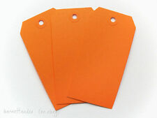 50 Orange Shipping Media Tags, Size 4 3/4 x 2 3/8, #5, Scrapbooking, Gifts, DIY