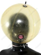 330 Latex Rubber Gummi Inflatable Ball Mask Hood customized catsuit costume .4mm