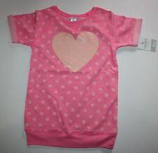 New Carter's Tunic Sweatshirt Pink Polka Peach Heart Dot Shirt Size 6X Year NWT