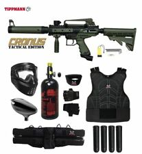 Tippmann Maddog Cronus Tactical Protective HPA Paintball Gun Package Olive