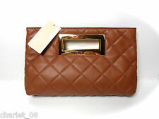 ~ MICHAEL KORS ~ CLUTCH TASCHE  BAG ~ BERKLEY QUILT LUGGAGE/ LEDER