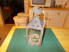 MIDDLE TO LATE 1800S HAND HELD LANTERN GLASS SIDES OIL BURNING REMOVABLE HOLDER