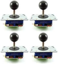 4 x Zippy SFERA SUPERIORE SHORT SHAFT Arcade Joystick, 2/4/8 vie (nero) - MAME ,
