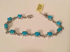 Arizona Sleeping Beauty Turquoise Bracelet Sterling Silver TGW 10.20 Carats